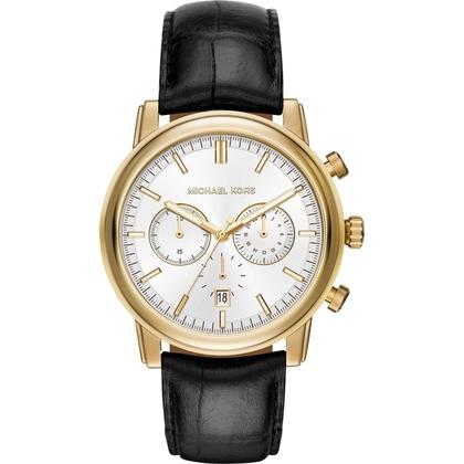 Michael Kors MK8458 Watch Strap Black Leather
