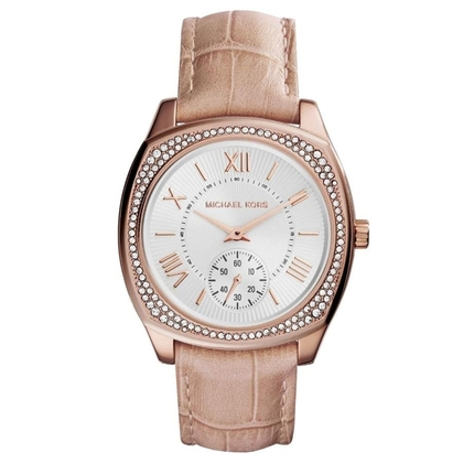 Michael Kors MK2388 Watch Strap Beige Leather