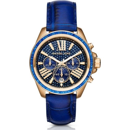 Michael Kors MK2450 Watch Strap Blue Leather