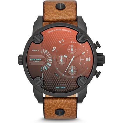 Diesel DZ7298 Watch Strap Brown Leather