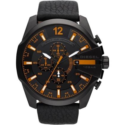Diesel DZ4291 Watch Strap Black Leather