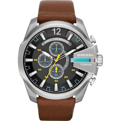 Diesel DZ4399 Watch Strap Brown Leather
