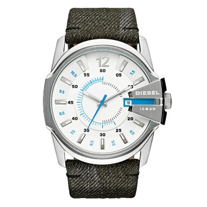 Diesel DZ1725 Watch Strap Grey Denim