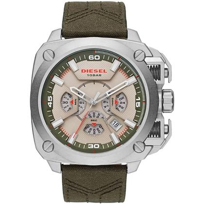 Diesel DZ7367 Watch Strap Green Leather