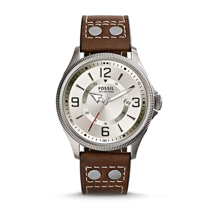 Fossil FS4936 Watch Strap Brown Leather