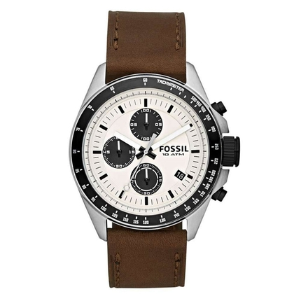 Fossil CH2882 Watch Strap Brown Leather