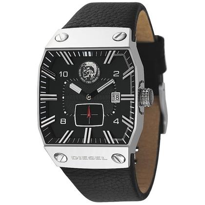 Diesel DZ9012 Watch Strap Black Leather