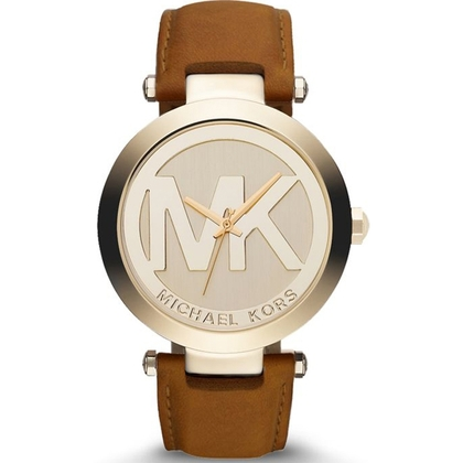Michael Kors MK2398 Watch Strap Brown Leather
