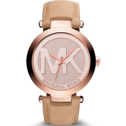 Michael Kors MK2399 Watch Strap Beige Leather