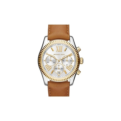 a102f7050 Michael Kors MK2420 Watch Strap Brown Leather