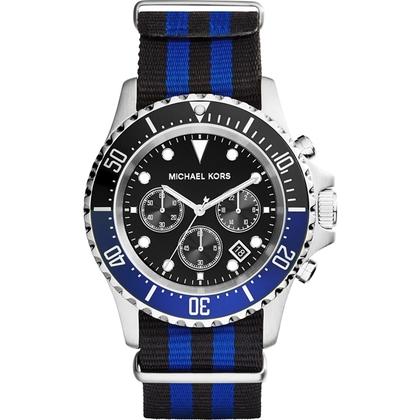 Michael Kors MK8398 Watch Strap Bleu Nylon