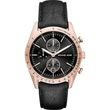 Michael Kors MK8440 Watch Strap Black Leather