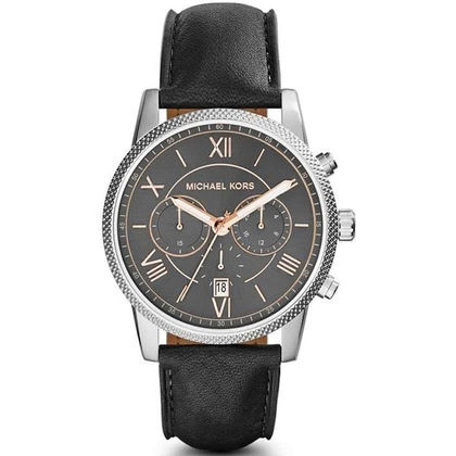 Michael Kors MK8393 Watch Strap Black Leather