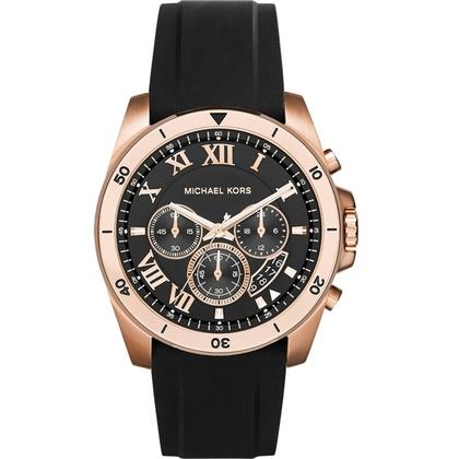 Michael Kors MK8436 Watch Strap Black Rubber