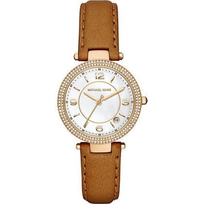 Michael Kors MK2464  Watch Strap Brown Leather