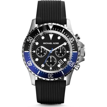 Michael Kors MK8365 Watch Strap Black Rubber
