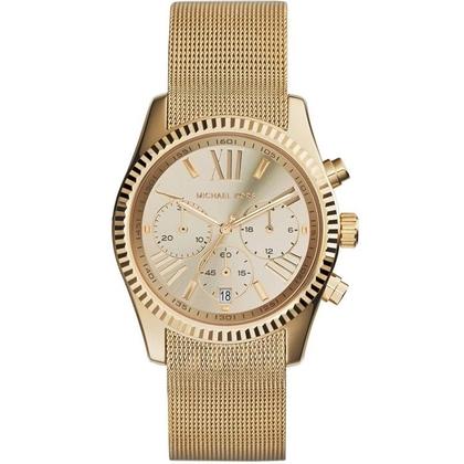 Michael Kors MK6296 Watch Strap Gold Mesh (Milanese)