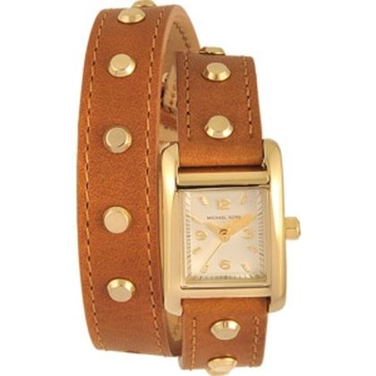 Michael Kors MK2340 Watch Strap Brown Leather
