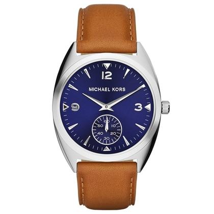Michael Kors MK2372 Watch Strap Brown Leather