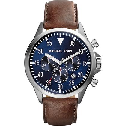 Michael Kors MK8362 Watch Strap Brown Leather