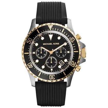 Michael Kors MK8366 Watch Strap Black Rubber