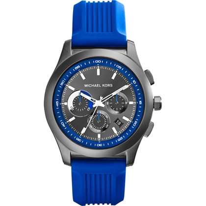 Michael Kors MK8375 Watch Strap Blue Rubber