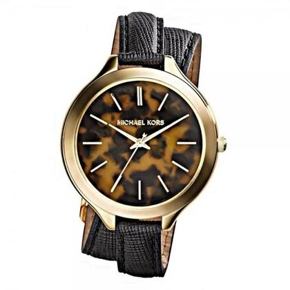 Michael Kors MK2346 Watch Strap Black Leather