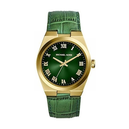 b12a8f94d562 Michael Kors MK2356 Watch Strap Green Leather