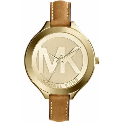 Michael Kors MK2326 Watch Strap Brown Leather