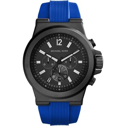 Michael Kors MK8357 Watch Strap Blue Rubber