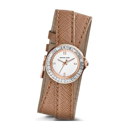 Michael Kors MK2338 Watch Strap Brown Leather