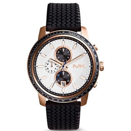 Michael Kors MK8343 Watch Strap Black Rubber