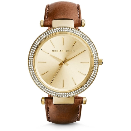 Michael Kors MK2363 Watch Strap Brown Leather