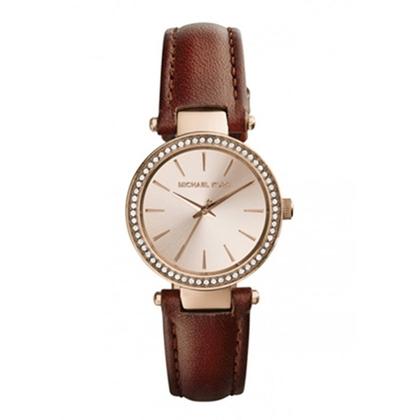 Michael Kors MK2353 Watch Strap Brown Leather