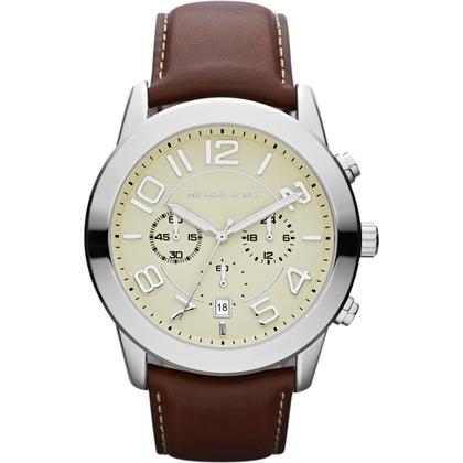Michael Kors MK8292 Watch Strap Brown Leather