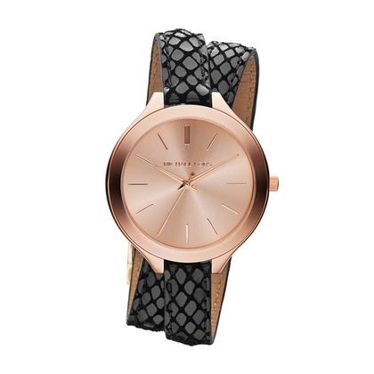 Michael Kors MK2322  Watch Strap Black Leather