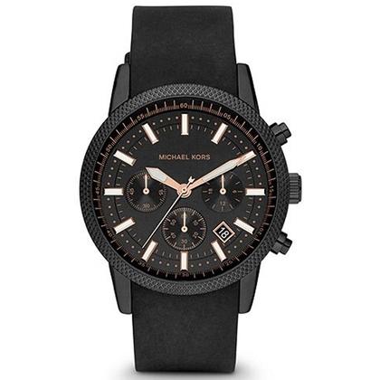 Michael Kors MK8317 Watch Strap Black Rubber