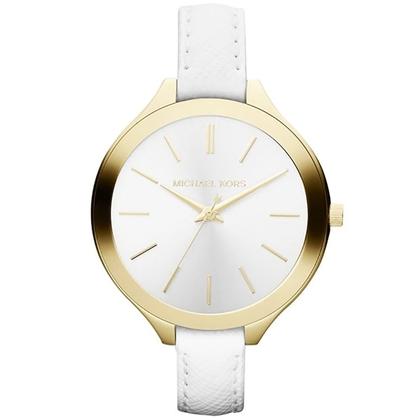 Michael Kors MK2273 Watch Strap White Leather