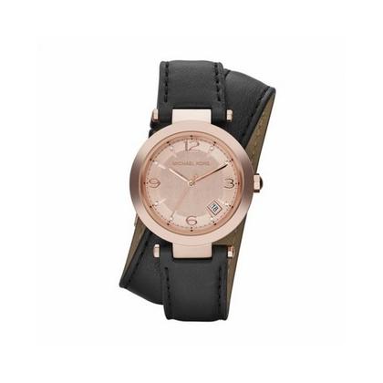 Michael Kors MK2323 Watch Strap Black Leather