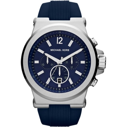 Michael Kors MK8303 Watch Strap Blue Rubber