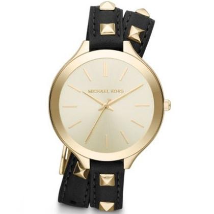 Michael Kors MK2317 Watch Strap Black Leather