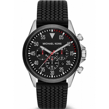 Michael Kors MK8334  Watch Strap Black Rubber