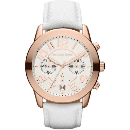 Michael Kors MK2289 Watch Strap White Leather