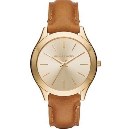 Michael Kors MK2465 Watch Strap Brown Leather