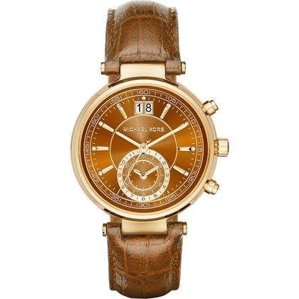 Michael Kors MK2424 Watch Strap Brown Leather