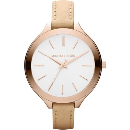 Michael Kors MK2284 Watch Strap Beige Leather