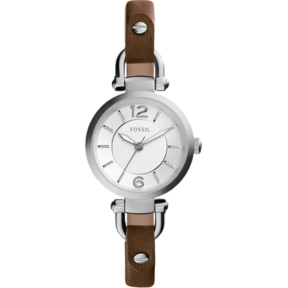 Fossil ES3861 Watch Strap Brown Leather