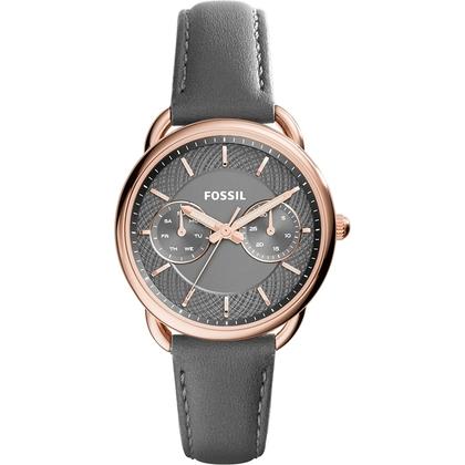 Fossil ES3913 Watch Strap Grey Leather