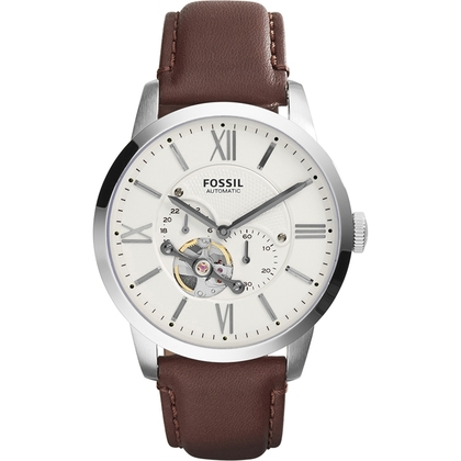 Fossil ME3064 Watch Strap Brown Leather