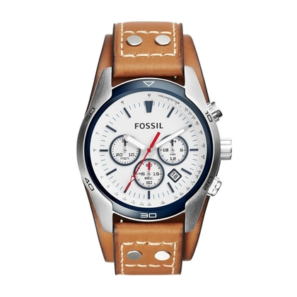 Fossil CH2986 Watch Strap Brown Leather